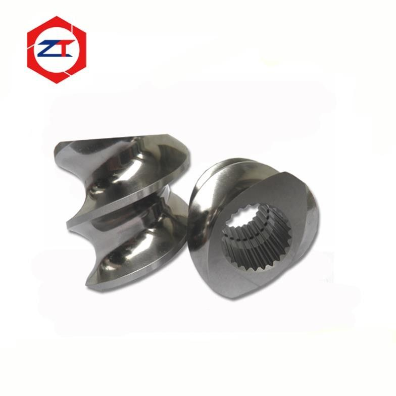 OD 62.4mm Pellet Machine Parts Screw Element High Self Cleaning Capacity